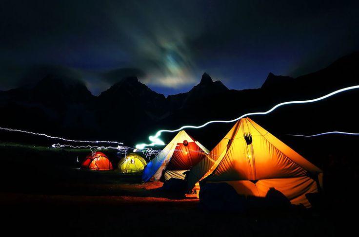 Carhuacocha Camp, Cordiliera Hyauhuash, Peru via National Geographic Photo Contest 2013