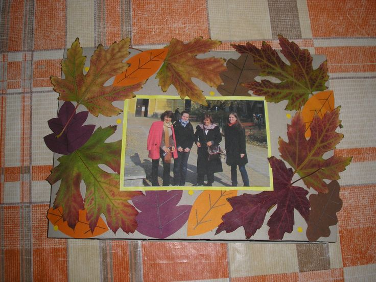 big handmade autumn-style postcard from real and paper leaves. I made this in 2011. :)