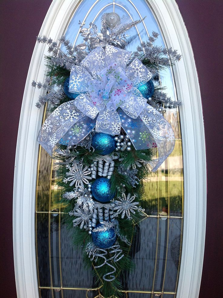 Christmas Garland And Swag Decorating Ideas : Best ideas about blue christmas decor on
