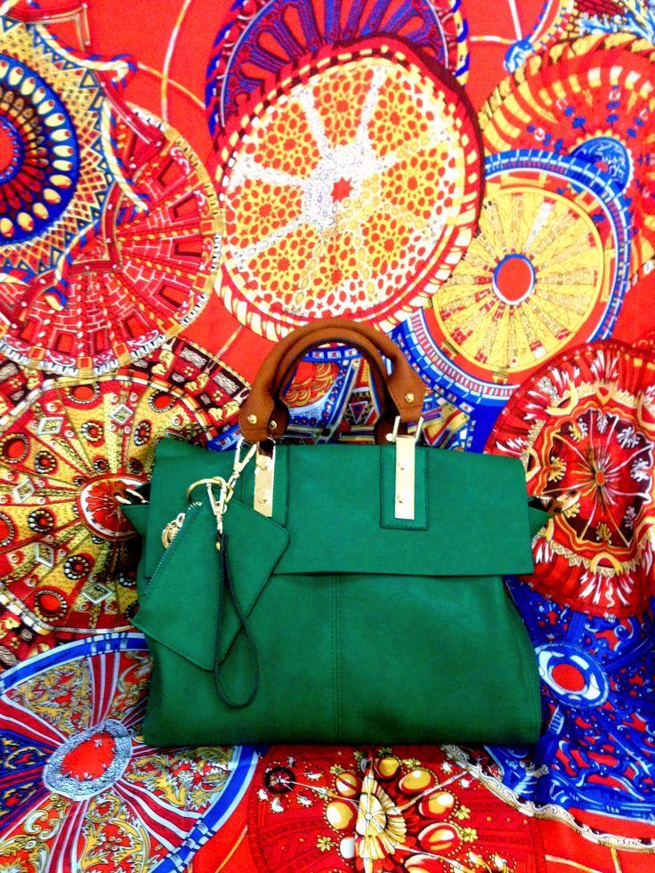 Mila emerald green handbag