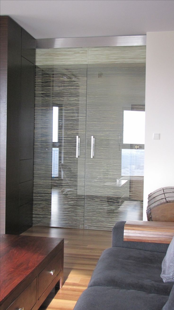 Living room doors with natural  grass