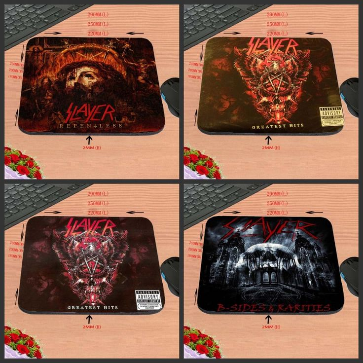 Luxury Print 4 PC of Cheap  Speed Slayer Band Rock Fans Vintage Stylish Gamer Gaming Comfort Optical Laser Non Slip PC Mouse Pad #Affiliate