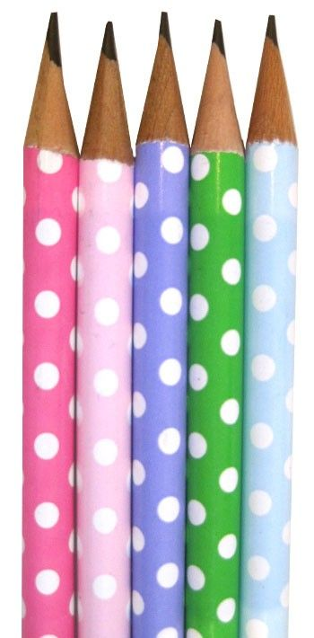 Take notes as you listen to editor panels. These pencils would be fun for that! Polka Dot Pastel Pencils