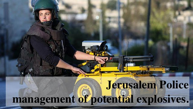 Master Sergeant Alex Pekerman, 27, stands out among them as she is the first female bomb disposal specialist in the Jerusalem Police