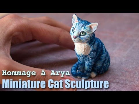(7) Polymer Clay Cat Sculpture // Hommage à Arya - YouTube