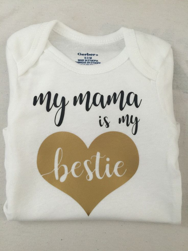 The 28 best custom shirts and onesies images on pinterest decal mama is my bestie onesie negle Image collections
