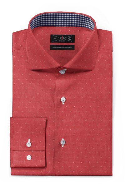 Red micropattern 100% cotton Shirt: http://www.tailor4less.com/en-us/men/shirts/3096-red-micropattern-100-cotton-shirt