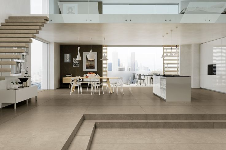 AVA Ceramica - EXTRAORDINARY SIZE Collection - Made in Italy - www.avaceramica.it - #living #kitchen #stairs