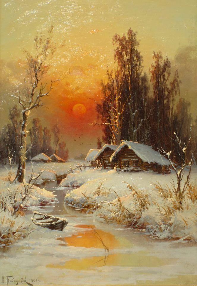 Bildergebnis für Bilder von Schneeszenen von Bob Ross