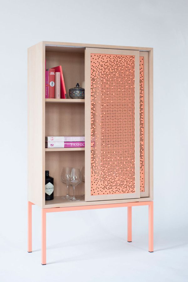 A Cabinet That Keeps Your Stuff Half Hidden