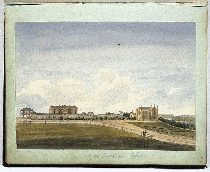 Painting of Hyde Park near Sydney 1840.