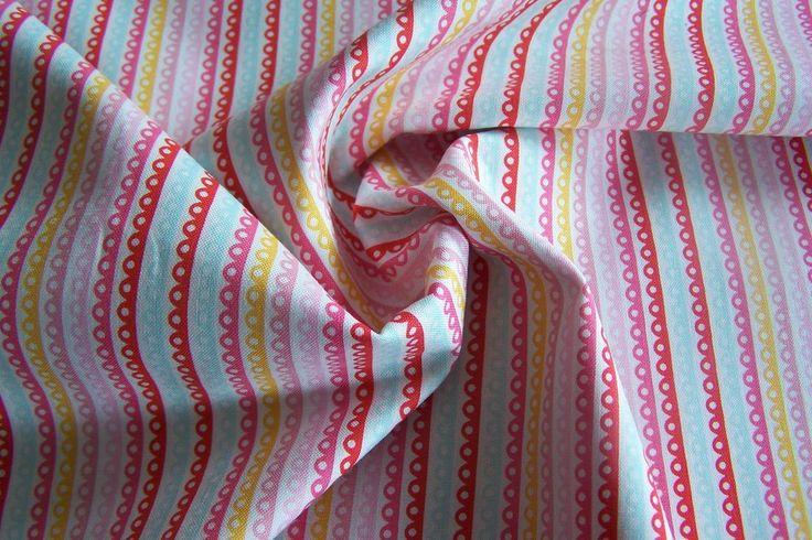 Meterware Riley Blake Girl Crazy Stripes Streifen Baumwollstoff Patchworkstoff