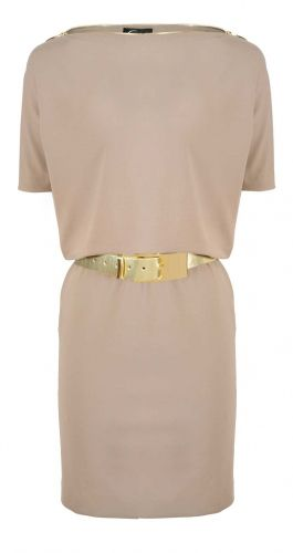 Caterina, Sukienka fango, złoty pasek, modna sukienka, elegancka sukienka, stylowa sukienka, https://sklep.caterina.pl