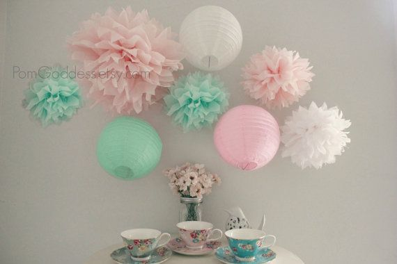 38 best wedding deko ideas candy bar images on pinterest - Baby deko mint ...