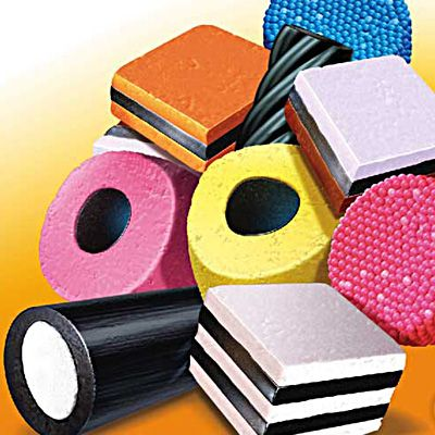 """Liquorice Allsorts"" Pack artwork for top selling Allsorts in Norway from Paul Morton, http://www.directoryofillustration.com/ArtistPortfolioThumbs.aspx?AID=2998, #licorice #candy #allsorts #norway #norge #illustration #sweet #ad #advertising"