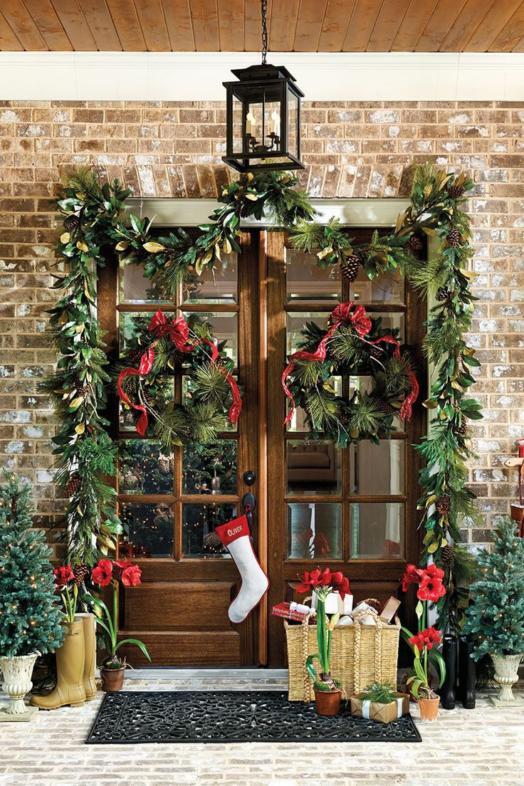 1000 Ideas About Double Door Wreaths On Pinterest Front