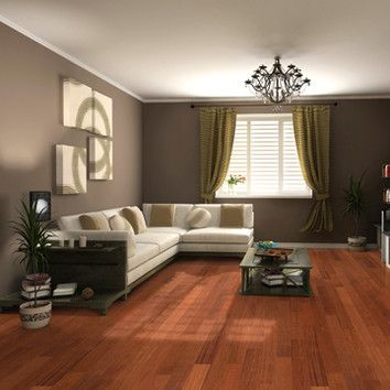 Go for an unusual hardwood flooring material by opting for solid Brazilian cherry jatoba.