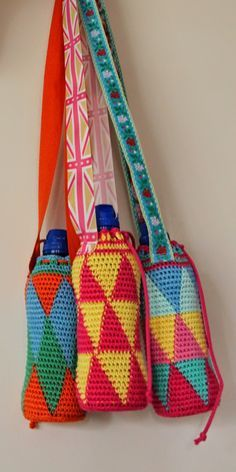 #haken, gratis patroon, Nederlands, fles, hoesje, kamperen, tapestry haken, wandelen
