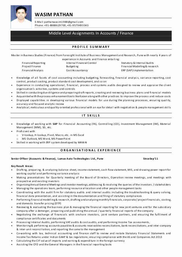 5 Years Experience Resume Unique Resume Wasim Pathan 4 Years Experience In 2020 Job Resume Samples Years Experience Resume