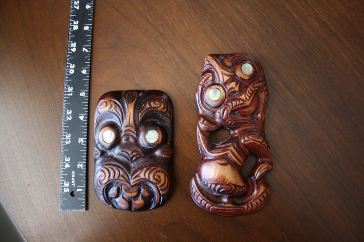 New Zealand Hand Carved Koruru Maori Tiki Wall Art by Riuhana 1986 by HuntersAlley on Etsy https://www.etsy.com/listing/219634975/new-zealand-hand-carved-koruru-maori