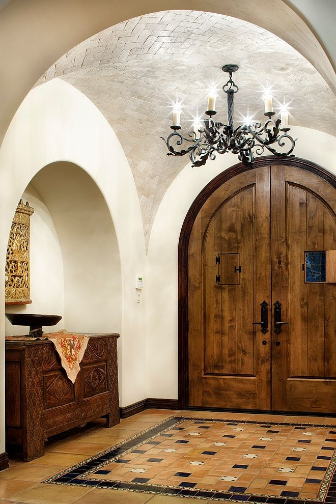 Top 25 best mediterranean kitchen ideas on pinterest for Mediterranean style entry doors