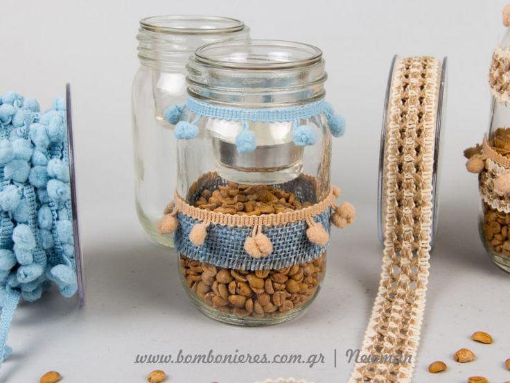 Φτιάξτε μόνοι σας τα πιο όμορφα κηροπήγια στο βάζο | bombonieres.com.gr