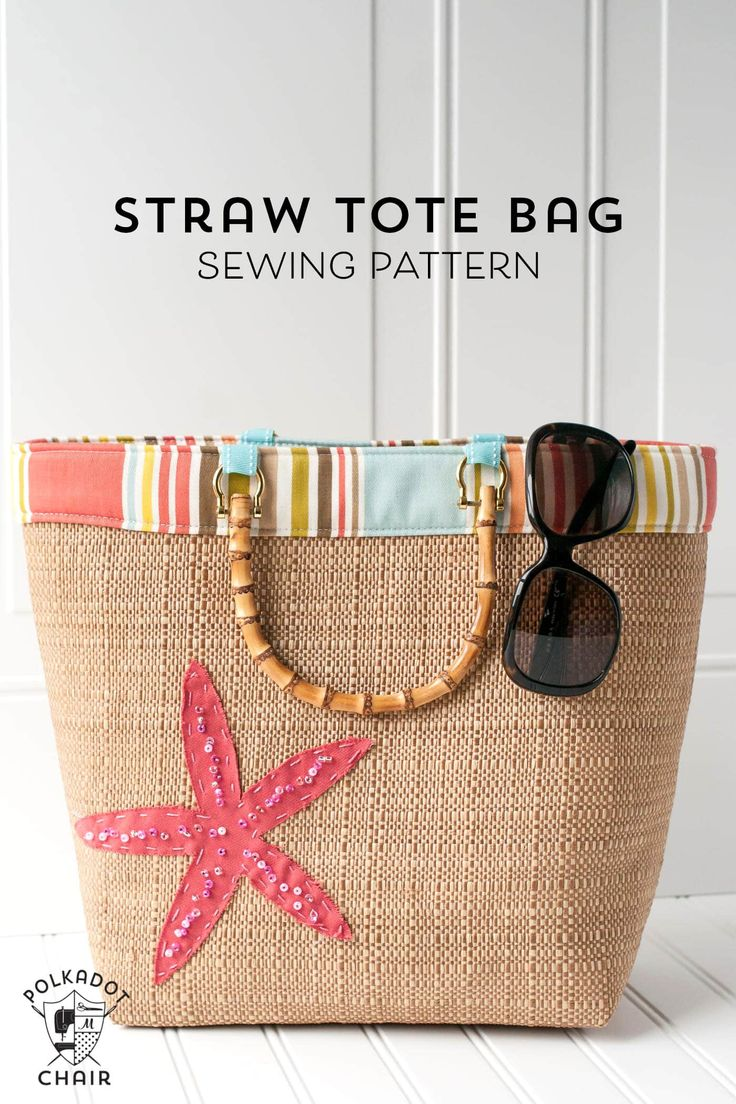 Beach Bound Straw Tote – a Beach Bag Sewing Pattern