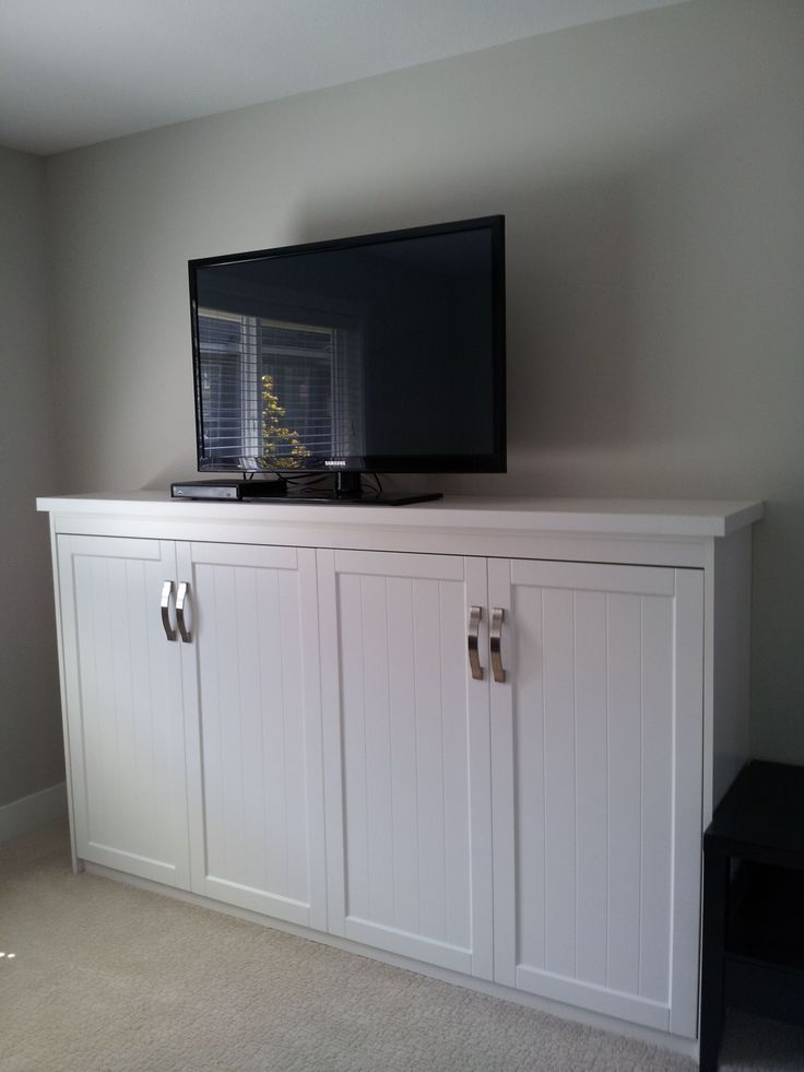 Multi purpose any room in your home with a Murphy Bed that doubles as a T.V. stand