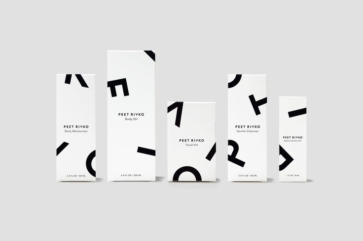 Less is more, especially when it comes to those who have sensitive skin.  They need products without a bunch of chemicals or irritating ingredients,  like the line of plant-based Peet Rivko products. Designed by Gunter  Piekarski, the packaging expresses the simple, gentle formulas used in each