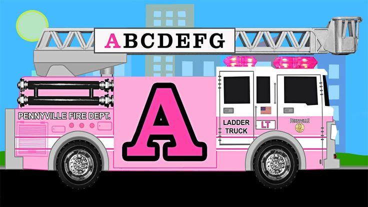 Alphabet Fire Truck (pink)