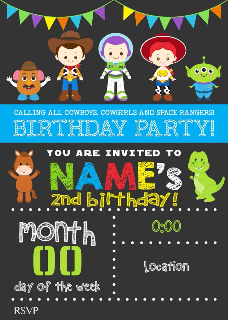 Toy story invitation dimadesignz                                                                                                                                                      Más