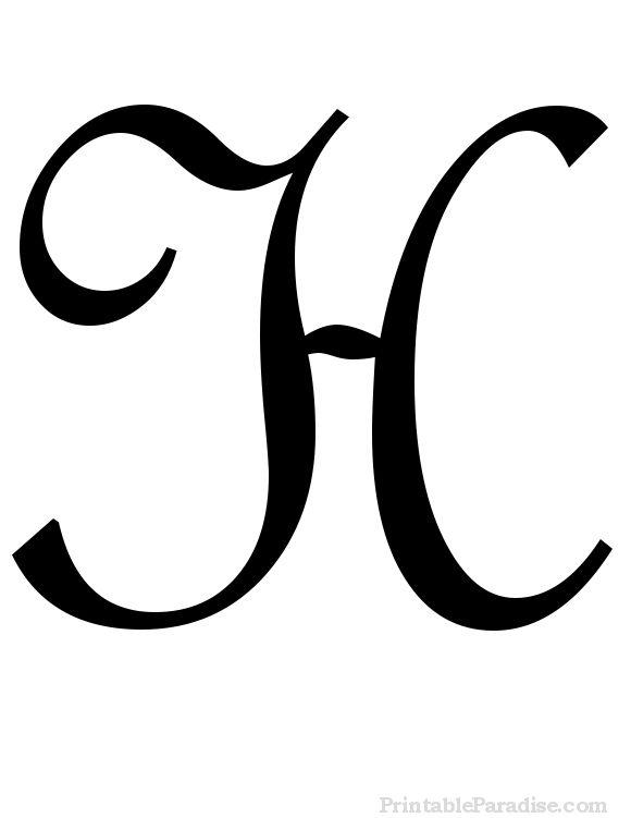 Printable Cursive Letters - Free Fancy Cursive Letters Initials