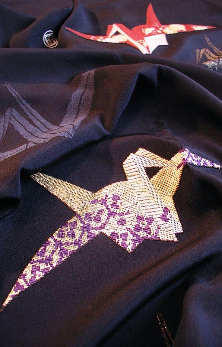 Japanese kimono fabric! IT HAS CRANES!!!!!!!!!!!