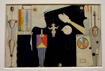 Modernist geometric forms and marionette movements in Oscar Schlemmer's Triadic Ballet. Originally a sculptor,     when he moved into...