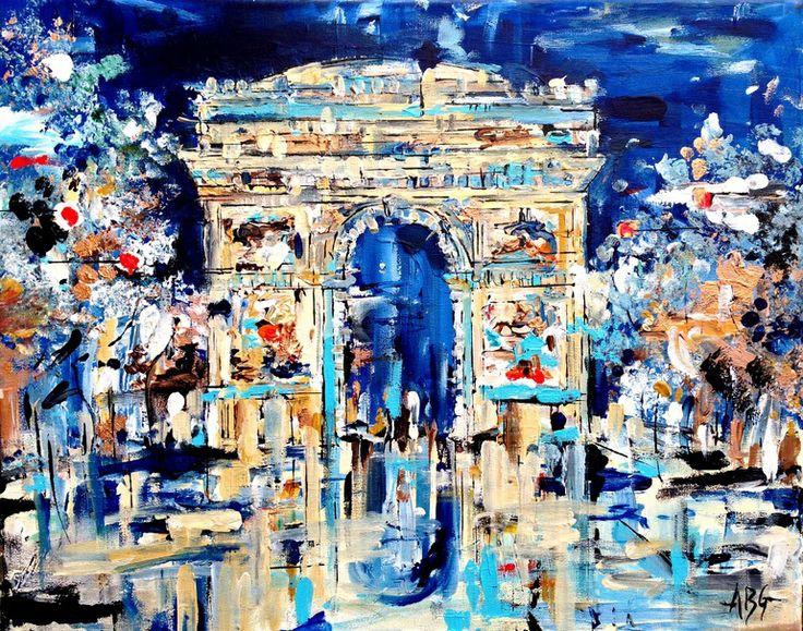 "Saatchi Art Artist: Anna Gammans; Acrylic 2013 Painting ""SOLD Arc de Triomphe """
