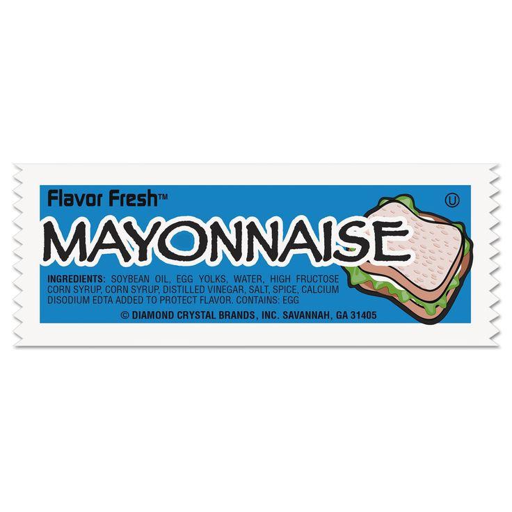 Diamond Crystal Flavor Fresh Mayonnaise Packets .317-ounce Packet 200/Carton