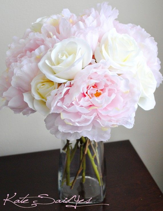 white peony centerpieces | ... Listing for Susana - Light Pink Peony Do-It-Yourself Centerpiece Kit
