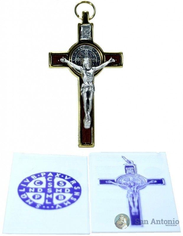 Cristo De San Benito: El origen de esta medalla se fundamenta en una verdad y experiencia del todo espiritual que aparece en la vida de san Benito, tal como nos la describe el papa san Gregorio en el Libro II de los Diálogos.