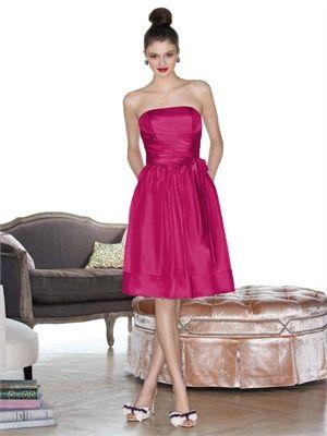 A-line Strapless Straight Neckline Knee Length Taffeta Bridesmaid Dress BD10259  -----2013 Prom Dresses,Prom Dresses 2013,Prom Dresses,Prom Dresses UK,Prom Dresses 2013 UK,2013 Prom Dresses UK