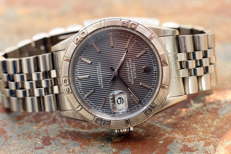 Image result for second hand rolex 16264 silver tapestry