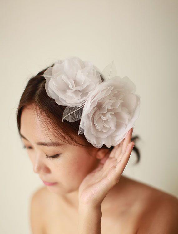 Bridal Hair Band Bridal Hair Accessory Wedding Hair by mellowdear