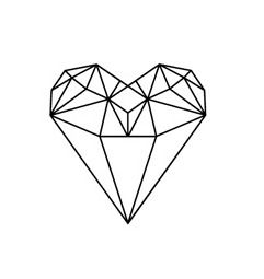 diamond heart, I want a diamond tattoo on my left arm and I think this is really cute