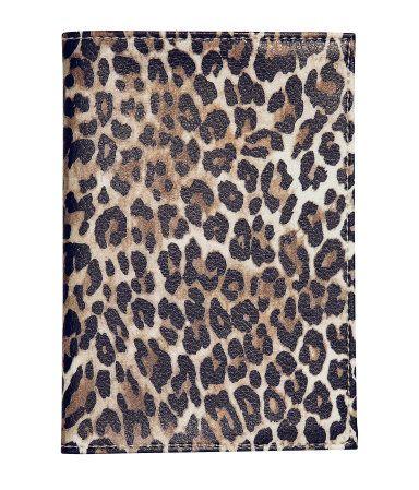 Leopard Look PU Women Passport Holder