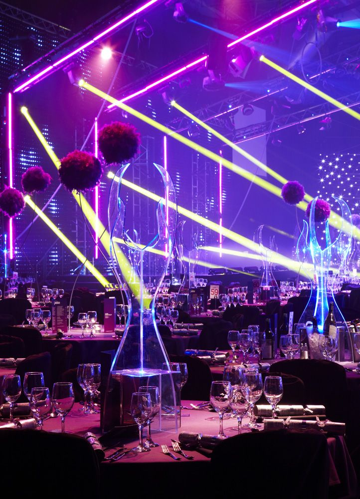 Light Show at Christmas Party World at the NEC in 2013. (Photo credit Vivid Experience Ltd.)