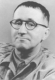 Bertolt Brecht (Eugen Berthold Friedrich Brecht born in Augsburg, Bavaria on February 10, 1898 – August 14, 1956) was a German poet, playwright, and theatre director. Brecht died of a heart attack at the age of 58. He is buried in the Dorotheenstädtischer cemetery near  Berlin, overlooked by the residence he shared with Helene Weigel. Works include:  Drums in the Night (Trommeln in der Nacht), Baal  +60 more