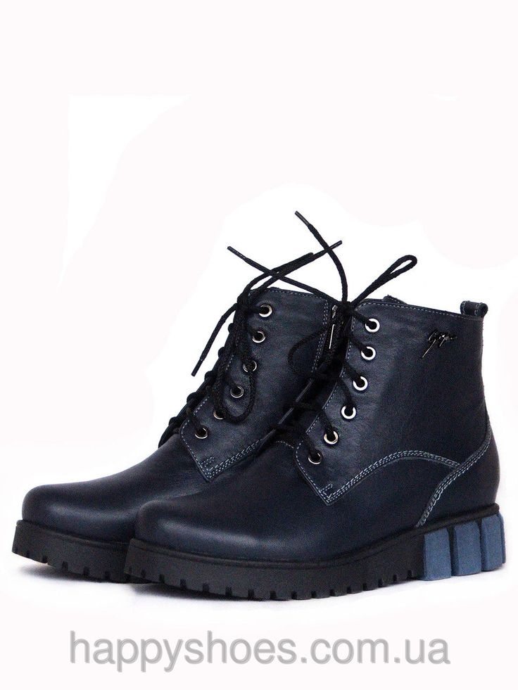 Синие ботинки на платформе, фото 1