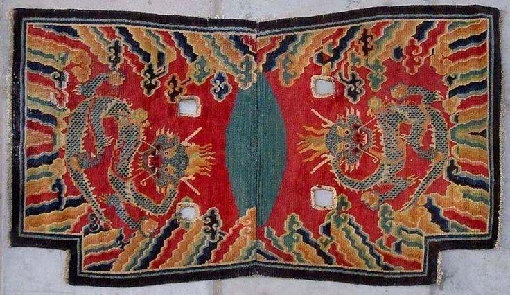 Tibetan 'imperial' under saddle rug 19-20a