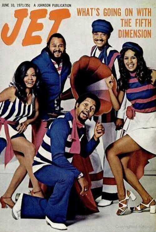 this is for you d.d. ...the fifth dimension on the cover of jet (6.1971)