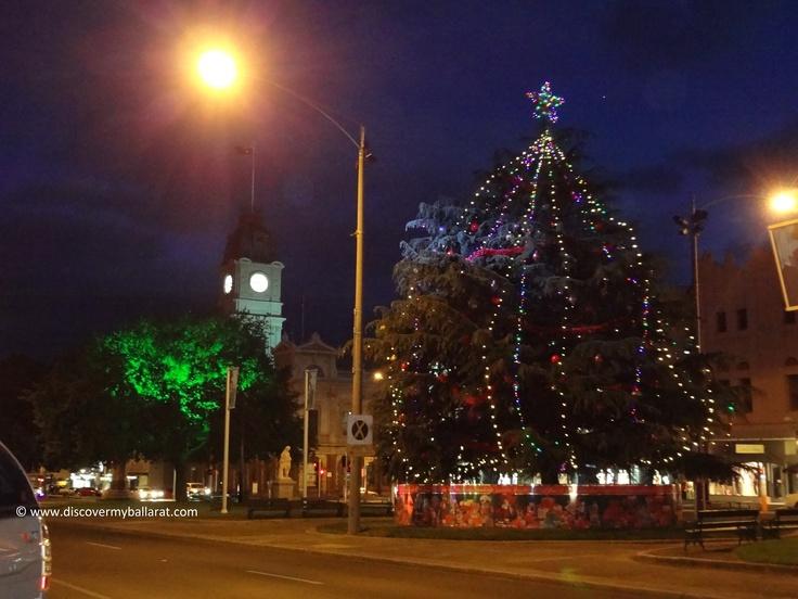 Christmas Tree at night - Sturt Street, Ballarat