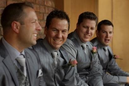 The groom with is best men